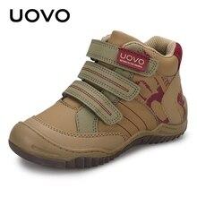 2020 UOVO New Arrival połowy łydki buty dla chłopców moda dla dzieci buty sportowe marki Outdoor codzienne tenisówki dziecięce dla chłopców rozmiar #26 36
