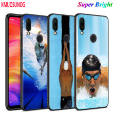Black Silicone Cover Michael Phelps Swimming for Xiaomi Redmi Note 8 7 6 5 4X 4 K20 Pro 7A 6A S2 5A Plus Phone Case