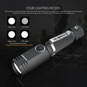 Image 3 - NICRON Led Flashlight Handfree Dual Fuel 90 Degree Twist Rotary Clip 600LM Waterproof Magnet Mini Lighting LED Torch Outdoor N7