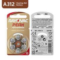 60 pièces RAYOVAC PIC Piles Auditives A312 312A ZA312 312 PR41 S312, 60 pièces de Piles pour Aides Auditives Zinc-Air 312 A312