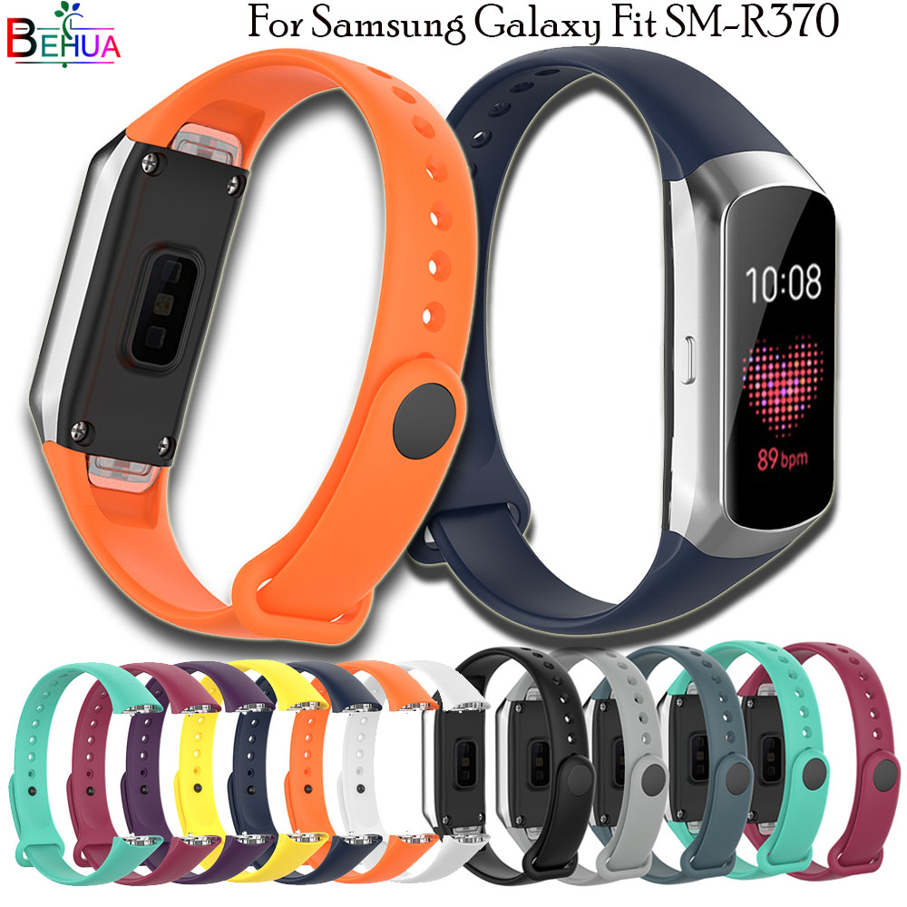 BEHUA Sport Soft Silicone Bracelet Wrist Band For Samsung Galaxy Fit SM-R370 Replacement Smart Watch Strap Wristband Watchband
