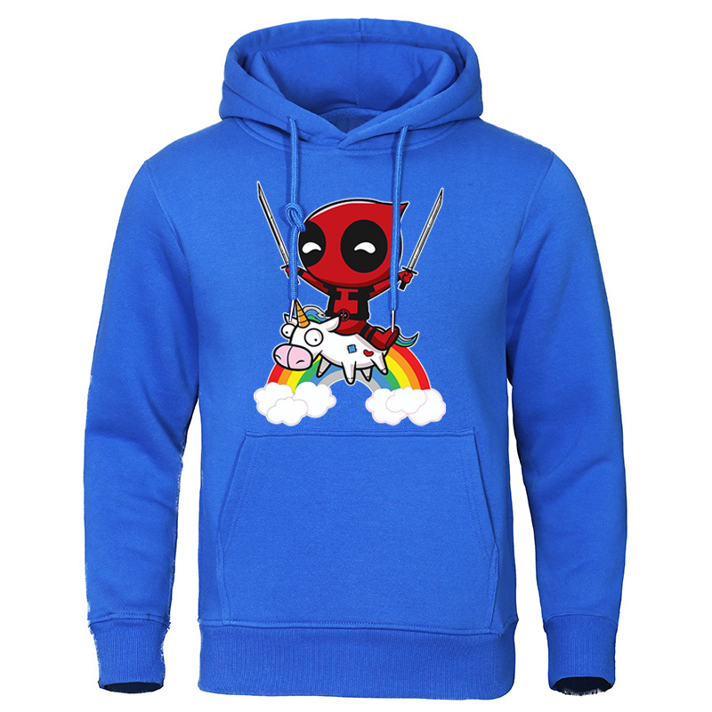 2019 Autumn Winter Hoodies Cute Deadpool Print Tracksuit Marvel Men Sweatshirts Casual Top Streetwear Harajuku Hip Hop Pullovers