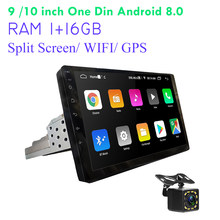 "2 DIN Mobil Radio 2.5D GPS Android Multimedia Player Universal 9 ""10"" Audio Navigasi WIFI Split Layar Sentuh mobil Stereo(China)"