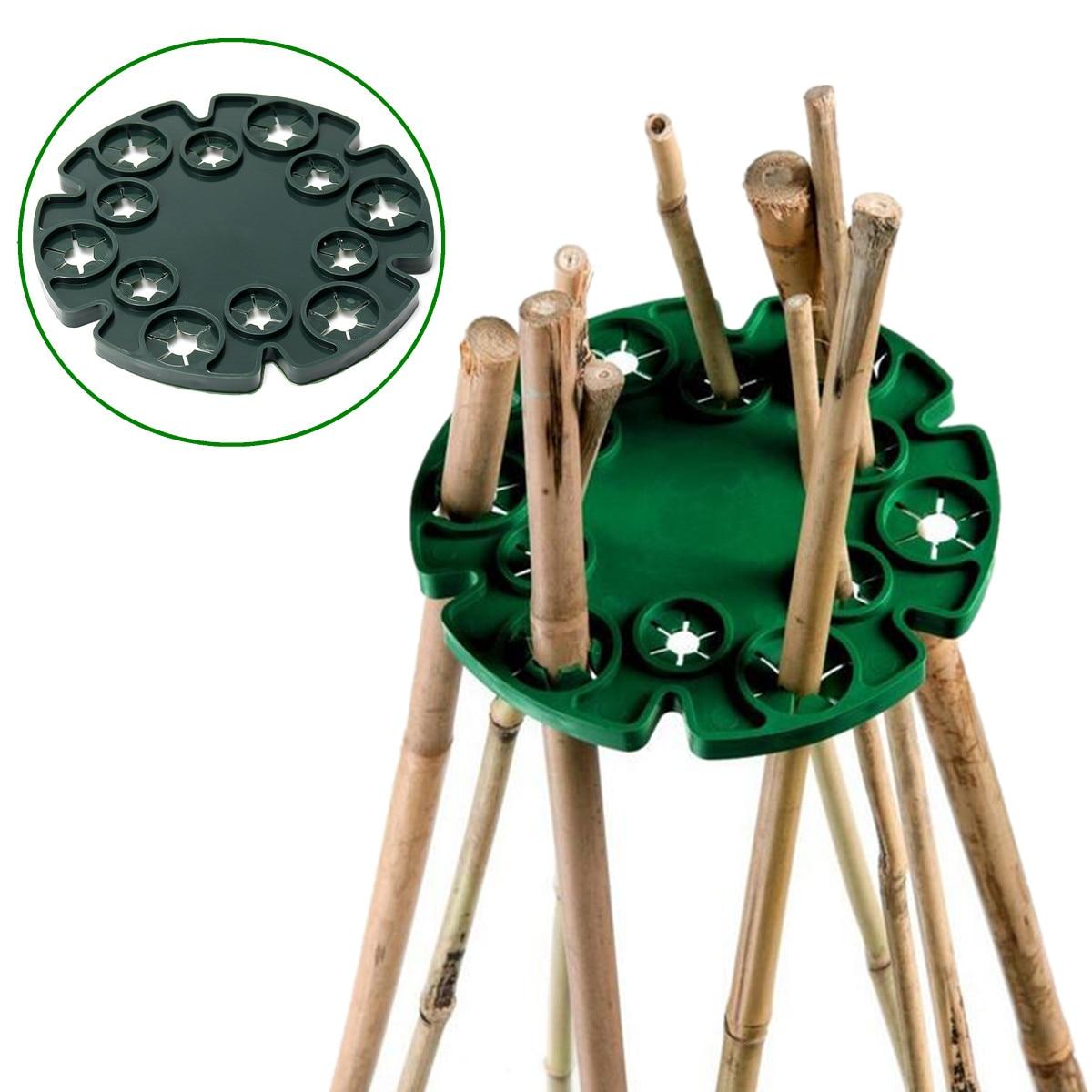 13.5cm Diamiter Support Tray supports for Vegetables Plants Garden Bamboo Cane Wigwam Sticks Holder Plant Flower Fruit Vine Bean
