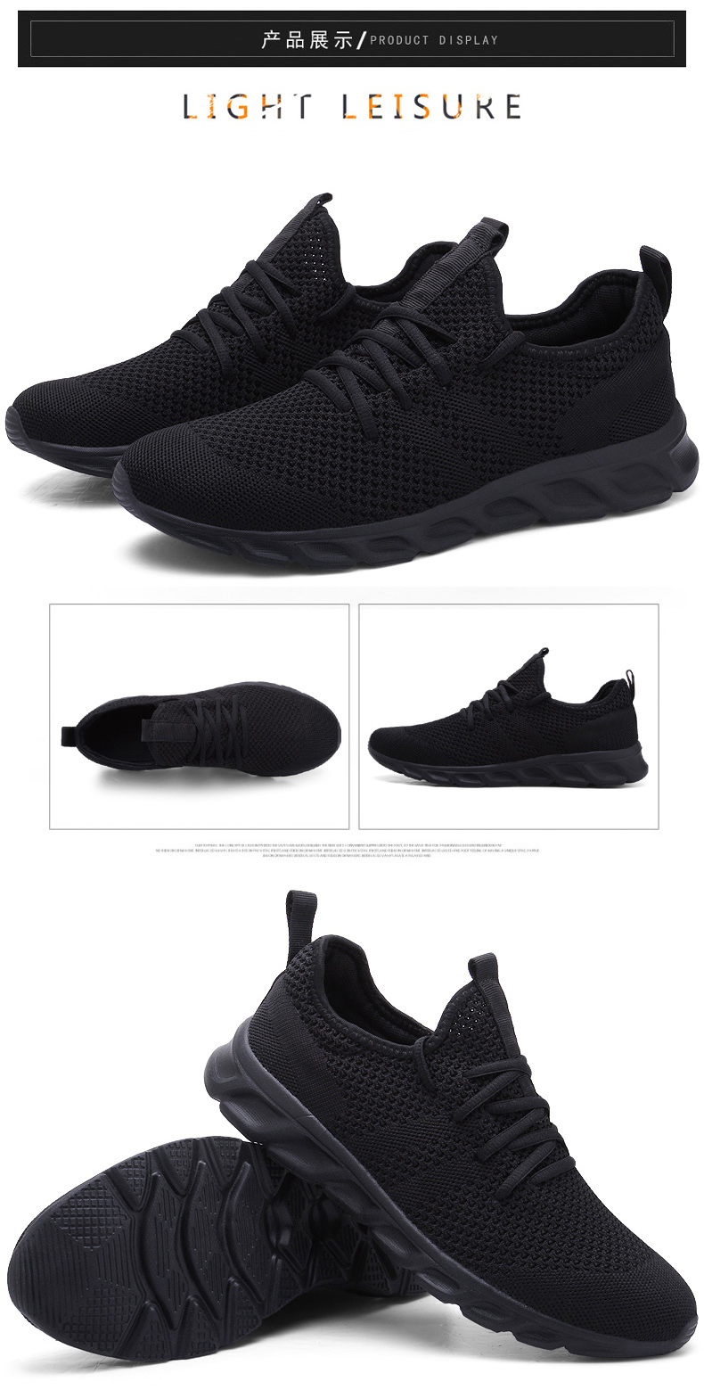 H22c0aaf15d06425cb45b3a025247a9e7T Men Light Running Shoes Flyknit Breathable Lace-Up Jogging Shoes for Man Sneakers Anti-Odor Men's Casual Shoes Drop Shipping