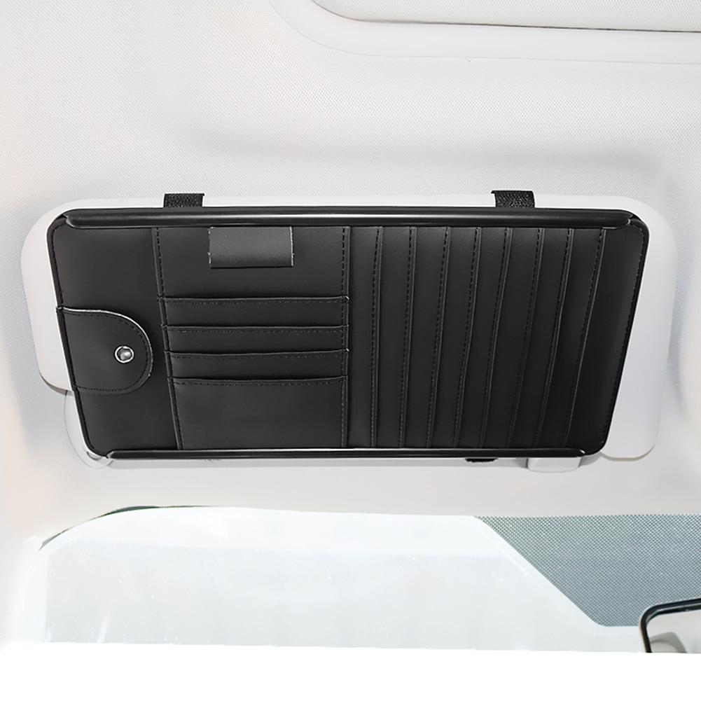 Pouch Clip-Bag-Holder Sunshade Pocket Interior-Organizer Cd-Storage Car-Sun-Visor Multifunction