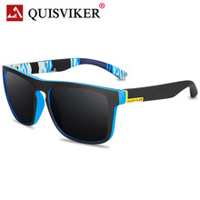 QUISVIKER Brand Designer Polarized Sunglasses Men Women UV400 Male Driving Goggles Square Sun Glasses Classic Fishing Eyewear