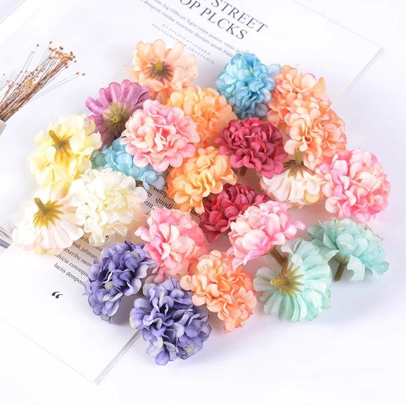 Handmade Craft Silk Hydrangea Artificial Flower Wreath Scrapbook Ornament