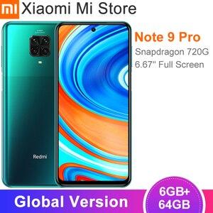 Смартфон Xiaomi Redmi Note 9 Pro, 6 ГБ ОЗУ 64 Гб ПЗУ, Snapdragon 720G, задняя камера 64 мп, 6,67 дюйма, сотовый телефон с NFC
