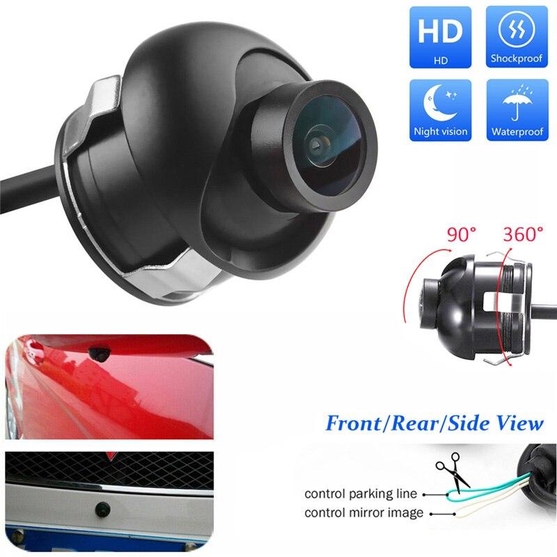 YuanTing Автомобильная передняя сторона заднего вида/Передняя камера водонепроницаемая HD масштабные линии расстояния для авто парковочная система - Название цвета: 360