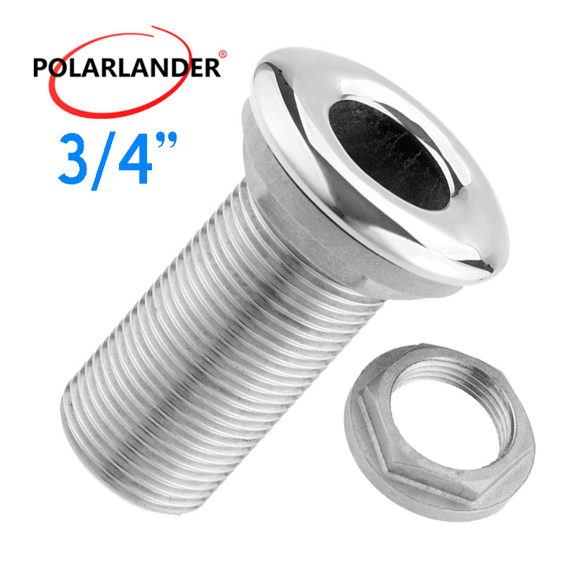 "Water Drain Hose Barb 316 Stainless Steel 3/4"" Thru Hull Fitting Drain Pipe Tube Connector Hardware Accessories For Marine Boat"