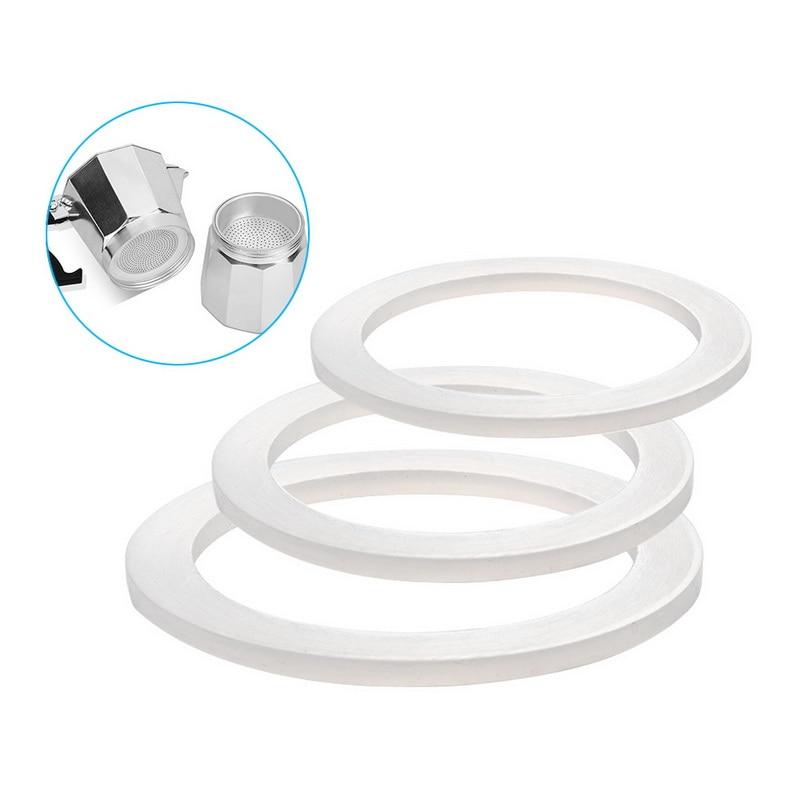 Bague de joint de rondelle Flexible blanche de 5 pièces pour le joint de Silicone de Pot de Moka
