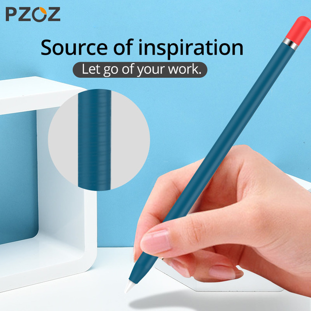 PZOZ For Apple Pencil 2 1st 2nd Case Pencil case Tablet Touch Stylus Pen Protective Cover Pouch Portable Soft Silicone Case 5