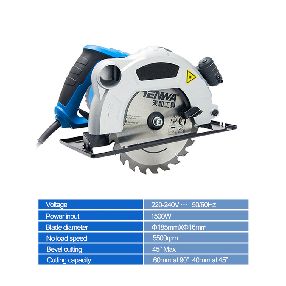 Image 4 - Electric Woodworking Circular Saw 1500W 7 inch 60mm Multi function Cutting Machine Household Small Flip Saw CircularElectric Saws   -