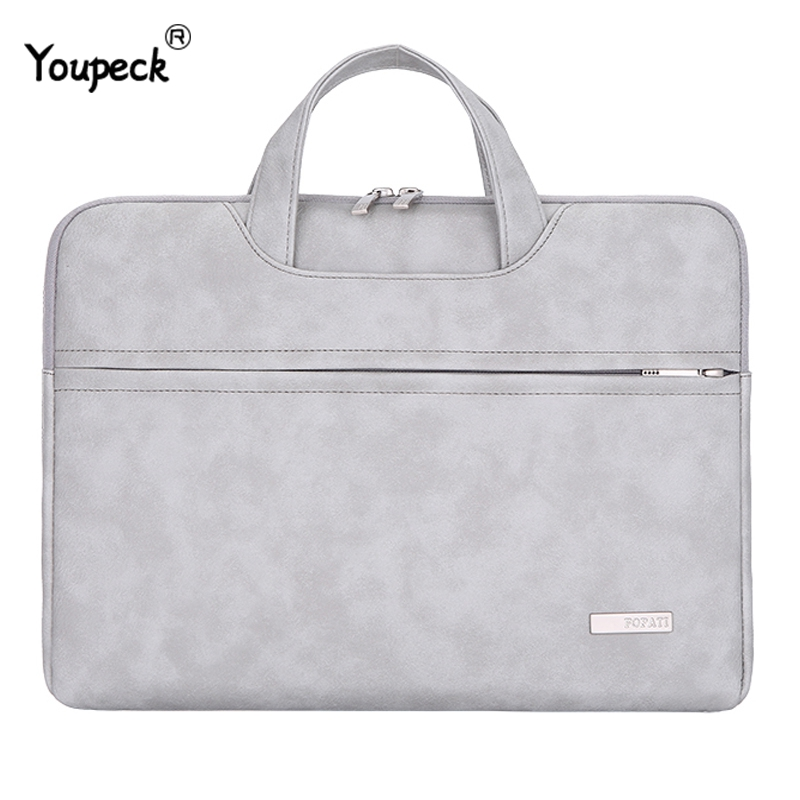 2019 PU Leather Laptop Bag 15.6 Inch For Macbook Air 13 Notebook Bag 13.3 Laptop Sleeve 14 Inch For Macbook Pro 15