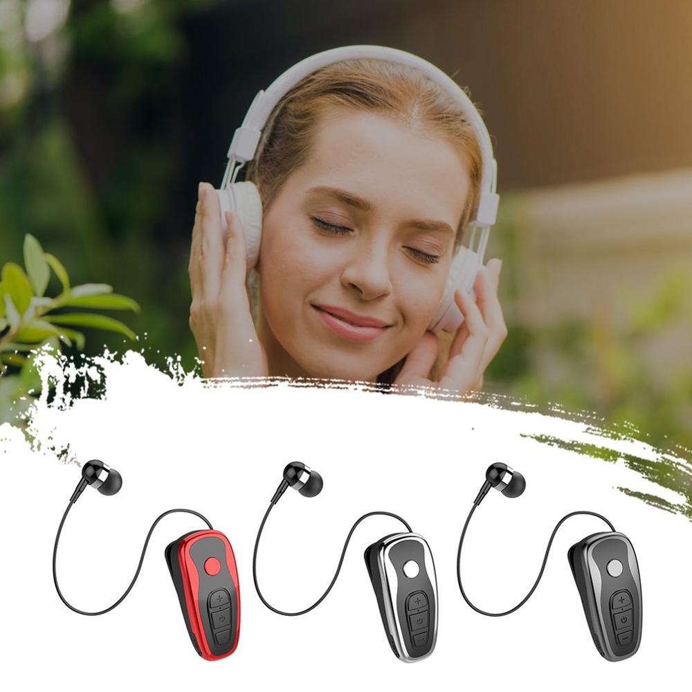 Wireless BT Headset With Vibration Voice Report Long Standby Mini Earphone With Microphone Music Stereo Headset
