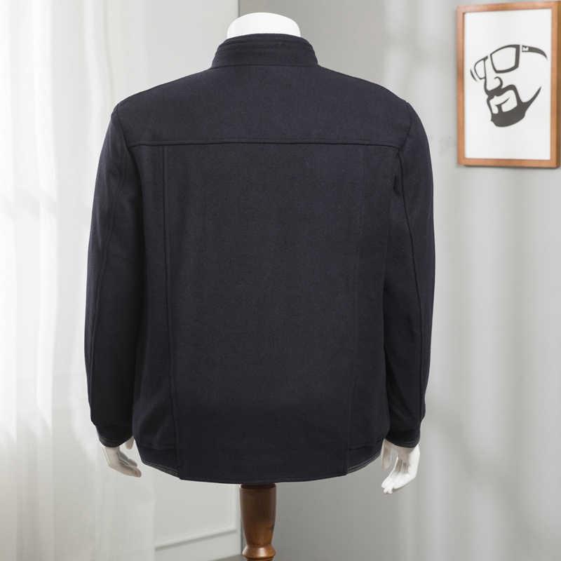 8XL 7XL 6XL 5XL 플러스 사이즈 겨울 자켓 남성 울 코트 슬림 피트 자켓 겉옷 웜 맨 캐주얼 자켓 오버 코트 코트