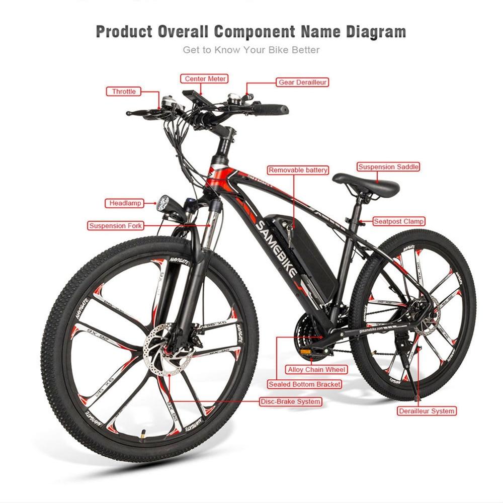Intelligente Klapp Elektrische Fahrrad 350W Motor ebike 10Ah Batterie Max 35 km/h Elektrische Fahrrad