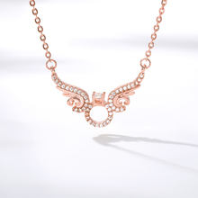 Crystals Angel Wing Pendant Necklaces for Women Gold Link Chain Fashion Choker Chain Brightly New Statement Necklace Jewelry imitation pearls choker necklace female cross chain beads pendant necklaces for women gold color 2019 fashion coin jewelry