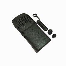Caja de cubierta frontal 2x Negro, Cable flexible, bocina, volumen, perilla para el canal, Kits de reparación para Motorola GP328 GP340 HT750 Radio