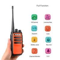 ווקי טוקי 2pcs Retevis RT666 / RT66 מכשיר קשר PMR רדיו UHF PMR 446 USB VOX טעינת שתי דרך רדיו המשדר Comunicador ווקי טוקי (2)