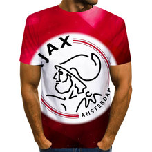 Mode Fußball team AJAX T-shirt Männer Football Stars Cristiano ronaldo 3D Druck Casual T shirt 2019 Weihnachten Cosplay T-shirts(China)