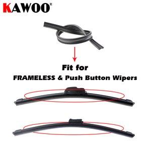 "Image 5 - 2pcs High Quality Boneless Frameless Rubber Car Wiper Blade refill Strips Windscreen 6mm 26""28""30""32"" Windshield car accessories"