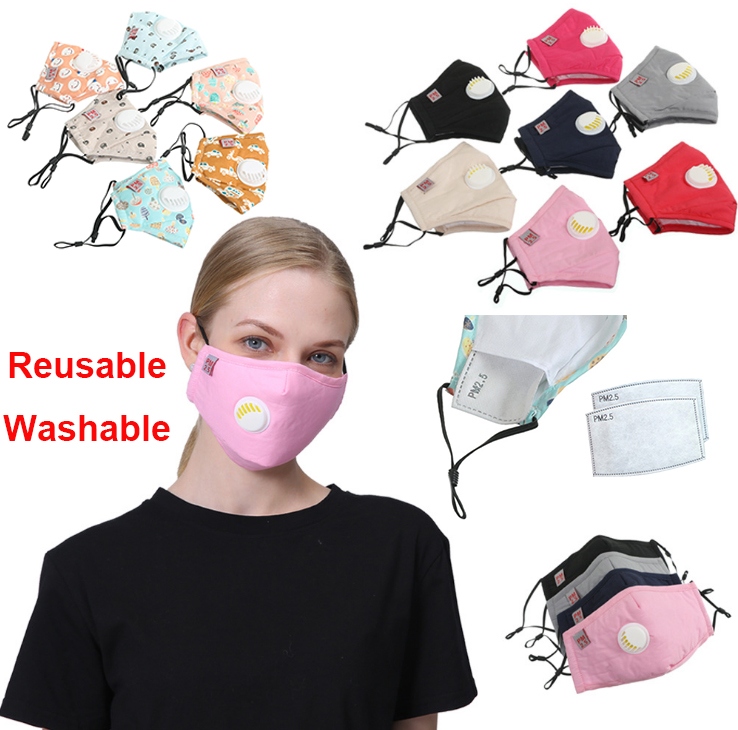 Cotton Mask Mouth Mask Valve Mask Activated Carbon Filter Windproof Mouth-muffle Face Masks