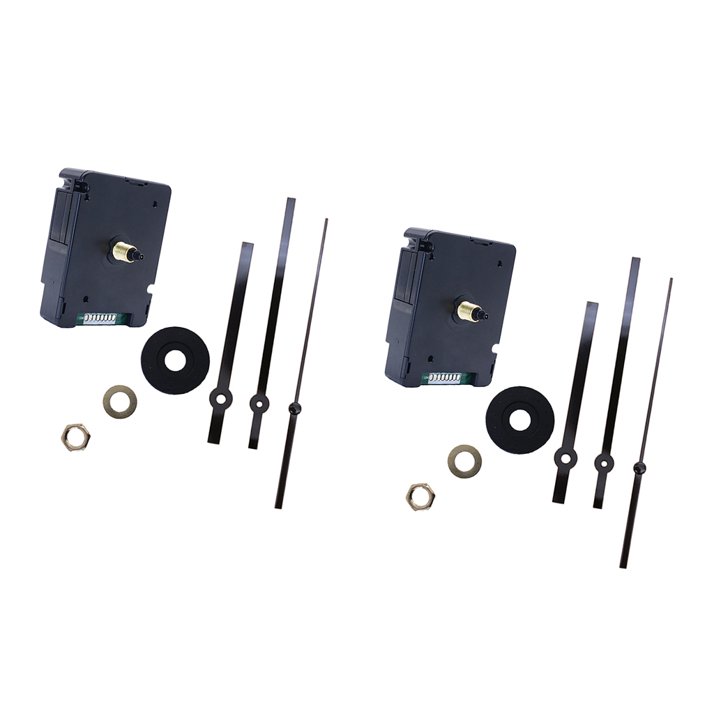 2 Pieces Scan Silent Atomic Radio Controlled Ticking Quartz Clock Movement Mechanism Kit|Repair Tools & Kits| |  - title=
