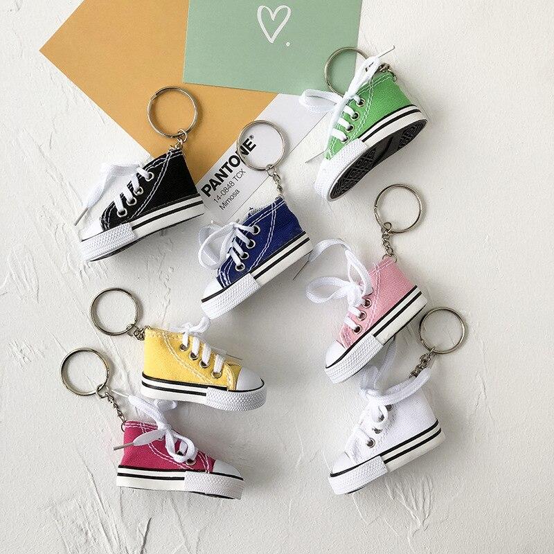Cute simulation canvas shoes key chain pendant accessories cute men and women bag ornaments
