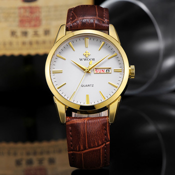 WWOOR Men's Watches 2020 Fashion Classic Watch For Men Top Brand Luxury Gold Quartz Wrist Mens Vintage Leather Date Clocks - discount item  55% OFF Men's Watches