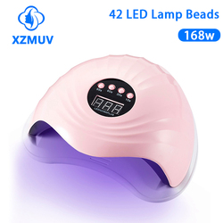 XZNUV 5XPLUS UV LED Lamp For Nails Dryer 42W/168W Ice Lamp For Manicure Gel Nail Lamp Drying For Gel Varnish Auto-Sensing 42pcs