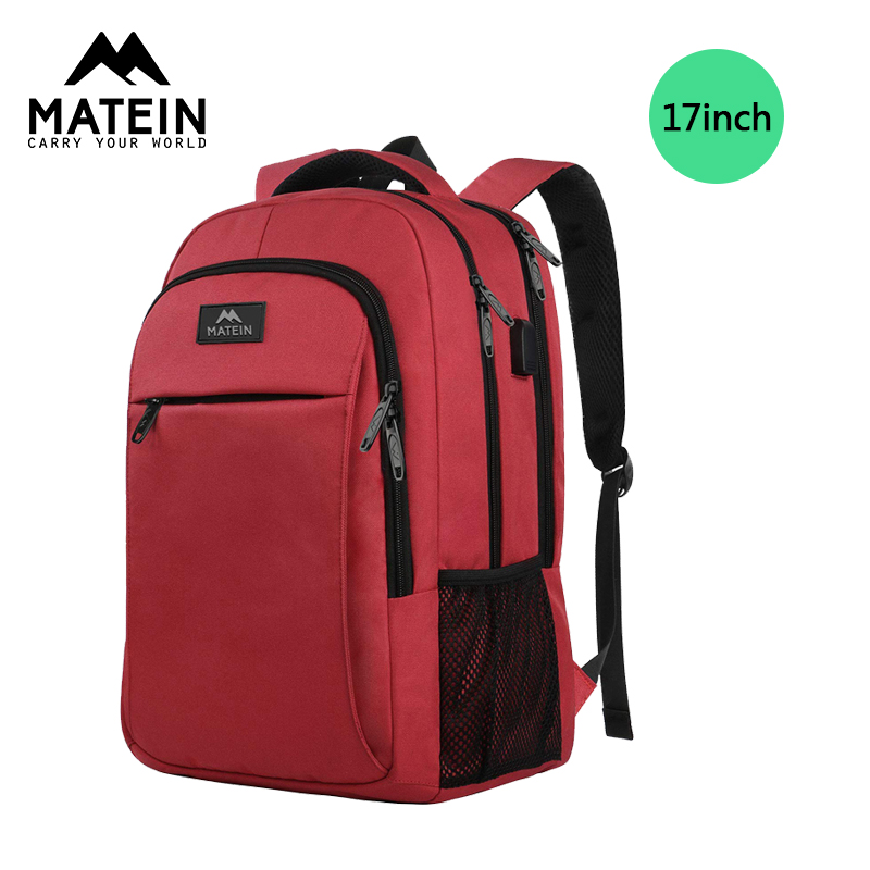 Smart backpack Male Business 17 inch Travel Computer Bag Waterproof Large Capacity Multi-Function USB Charging Port