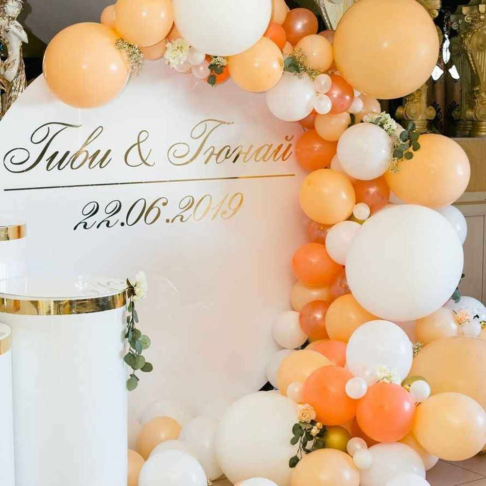 122 Stks/set Baby Macaron Oranje Latex Ballonnen Guirlande Boog Parel Oranje Ballen Wedding Baby Shower Verjaardag Kid Party Decoratie
