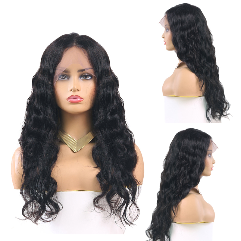 Brazilian Long Wave Lace Front Human Hair Wigs Preplucked Remy 13x4 Lace Front Wig With Baby Hair For Black Women KEMY HAIR