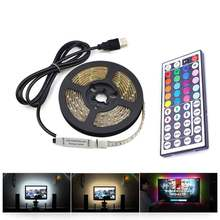 USB LED Strip lamp 2835SMD DC5V Flexible LED light Tape Ribbon 5M HDTV TV Desktop Screen Backlight Bias lighting backlight(China)