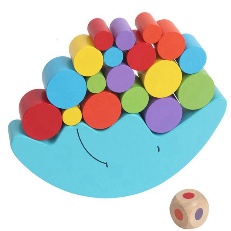 Wooden Toys Moon Balancing Game Educational Toys Montessori Toys For Kids Wooden Building Blocks Baby Children Balance Toy Gift