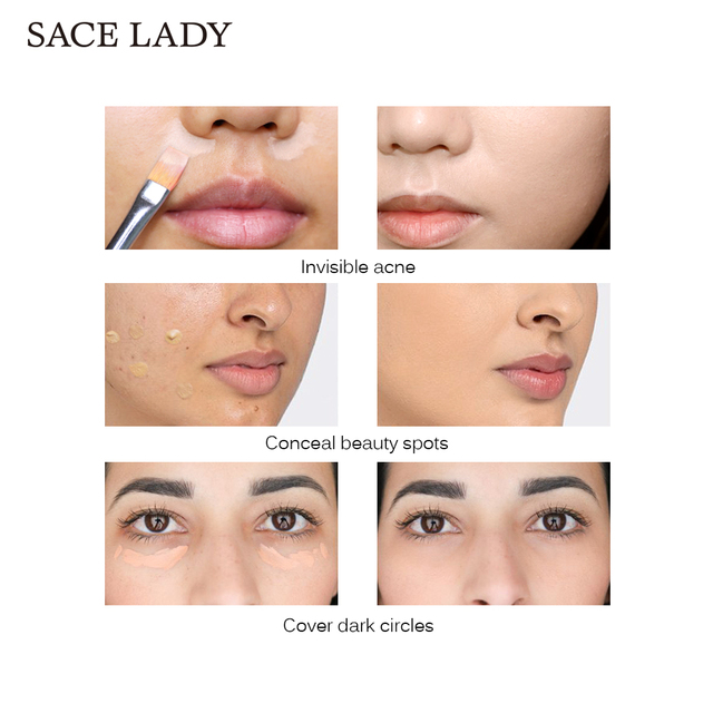 SACE LADY 6 color Full Cover base Make Up primer waterproof concealer palette maquillag Eye Dark Circles Cream Face Corrector 2