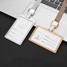 Card Holder Case  Aluminium Women Name ID Card Cover Metal Work Identity Badge ID Business Case