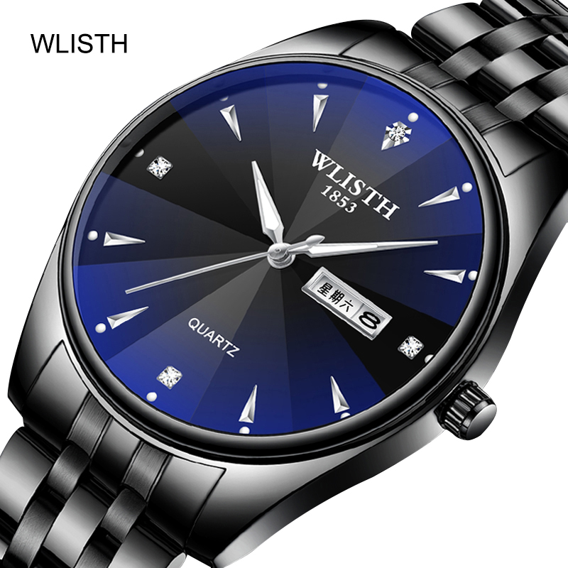 Manufacturer direct sales ultra thin fashion new steel band <font><b>couple</b></font> watch a pair of quartz watch Night Light men and women steel image
