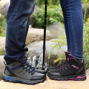Image 4 - Phụ Nữ Núi Giày Chống Nước Thể Thao Ngoài Trời Giày Leo Núi Nam Đi Đào Tạo Giày Bọc Chống Trượt Mặc Săn Bắn Giày