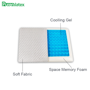 Image 4 - PurenLatex Silicone Gel Pillows Memory Foam Pillow Summer Ice Cooling Neck Ice Cool Cervical Vertebra Orthopedic Healing Cushion