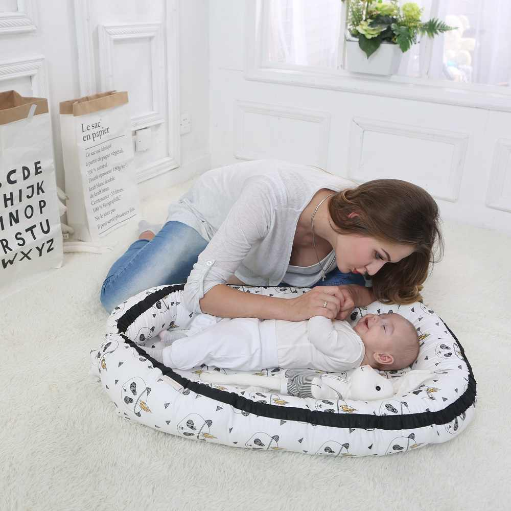 Miracle Baby Nest Portable Baby Crib 100% Cotton Breathable Baby Lounger Baby Joy Bassinet  Perfect for Co-Sleeping and Travel