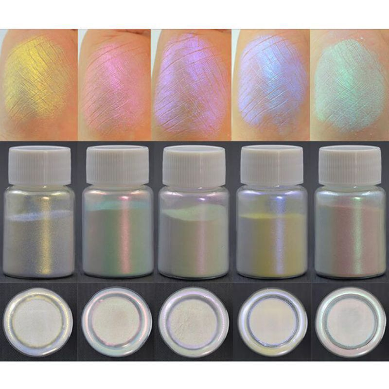 6 Colors Shiny Aurora Resin Pigments Polarized Diamond Pearlescent Pigments Kit Colorants Resin Dye Jewelry DIY Making Tools