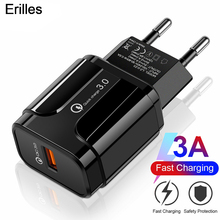 18W Quick Charge QC 3.0 4.0 Fast Charging For iPhone Charger EU US Adapter Wall USB Charger For Samsung S9 Mobile Phone Chargers mobile phone chargers deppa 410204 quick fast accessories telecommunications usb for car