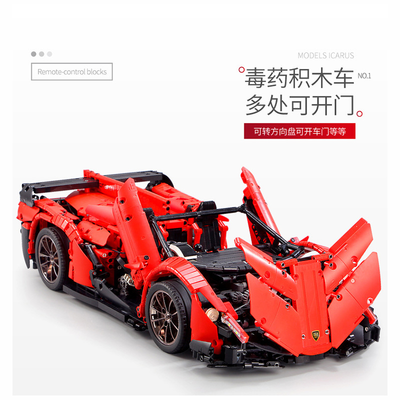 13079 poison RC Car MOC 10559 Veneno Roadster Motor Power Functions Fit App for legoing Technic Building Blocks Bricks Toys Gift 3