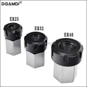Image 1 - 1 szt. Uchwyt sprężynowy z tuleją zaciskową Hex ER32 ER25 z tuleją zaciskową 45x65mm do tokarki grawerującej