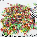 1000 шт./упак. 3D ломтики дополнение для нейл-арта, Slime фрукты очарование наполнителем костюм для блеск для губ