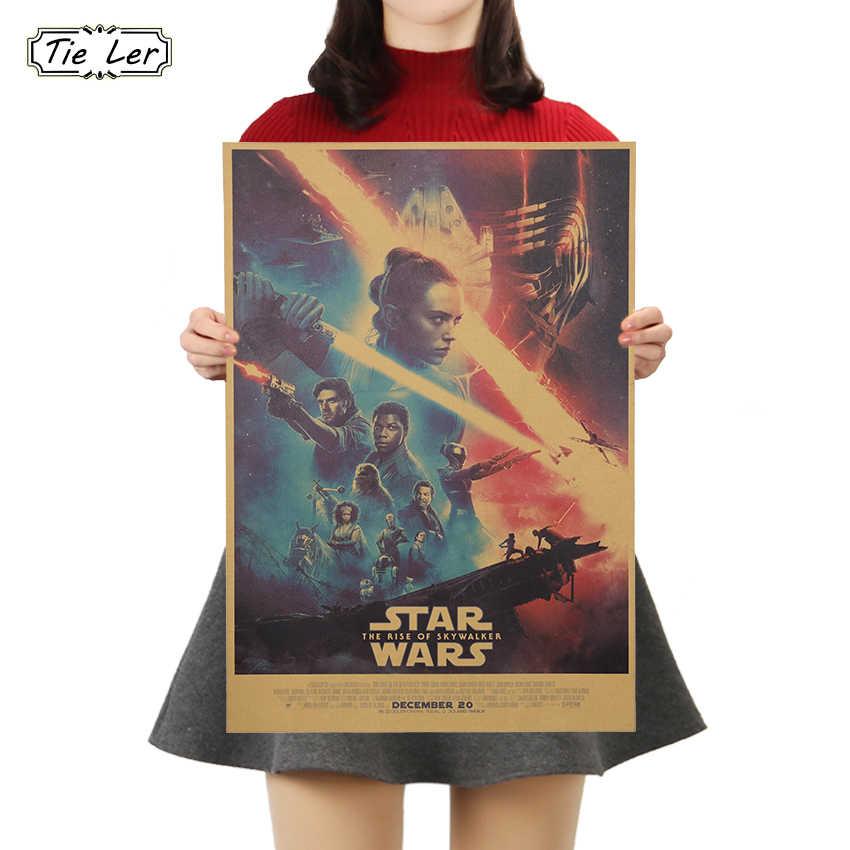 Tie Ler Classic Movie Poster Cafe Bar Cucina Poster Arredamento Ornamento di Poster D'epoca Retro Kraft Adesivi Murali di Carta 50.5X35 Centimetri