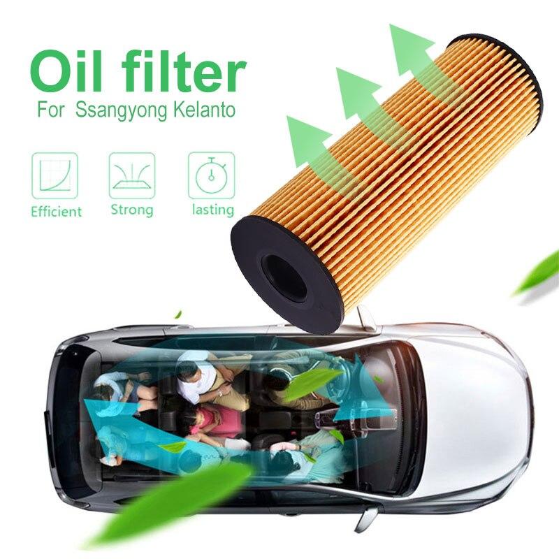 1621803009 araba oto yağ filtresi Ssangyong Rexton için Kyron Stavic Actyon 2.7/2.0XDi pürüzsüz yağlama yedek yağ filtresi